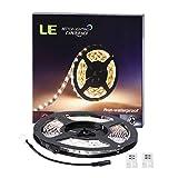 LE Striscia Luminosa LED 5m 18W Flessibile, Accorciabile, Divisibile, Collegabile 1200lm 300 LED 2835 per Interni Soggiorno Bianco Diurno Kit 2 Connettori, 1 Cavo di Connessione per Alimentatore