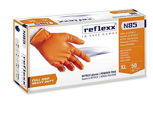 Reflexx N85/XL, guanti in nitrile FULL GRIP   HEAVY DUTY