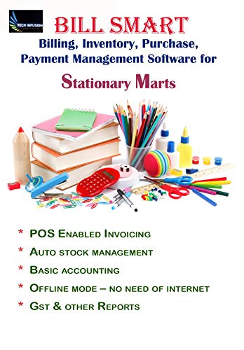 BILL SMART Basic Accounting Billing Inventory & Stock Management Software For Stationary & Marts