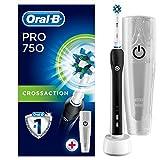 Oral-B Pro 750 Wiederaufladbare Elektrische Zahnbürste mit Reise-Etui, schwarz