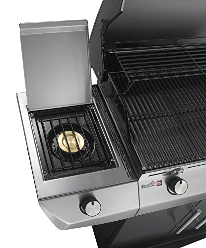 The Char-Broil Performance Series T36G5 B - 3 Burner Gas Barbecue features a side burner with a lid so it can be used as a side shelf too.