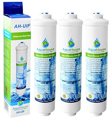 3x AquaHouse UIFH Compatibile per filtro per l'acqua Haier 0060823485A Kemflo Aicro per Haier, CDA,...