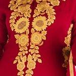 Zahara Merchant Stitched Maroon Georgette Embroidered Kurta Plazo Set