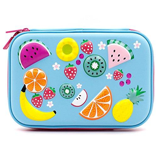 Astuccio portapenne per bambini, con decorazioni colorate in rilievo, parte superiore rigida e più...