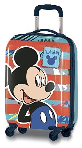 Disney Topolino D97771 Valigia Per Bambini, Trolley Da Cabina, 55 Centimetri, 33 Litri, Multicolore