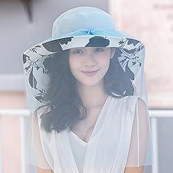Outdoor Hat, Summer Sun Shade, Sun Visor, Sun Hat, Foldable,Blue