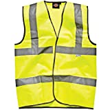"Dickies Highway Safety High Visibility Hi-Viz Yellow Waistcoat (XXX-Large Chest 56""-58"")"