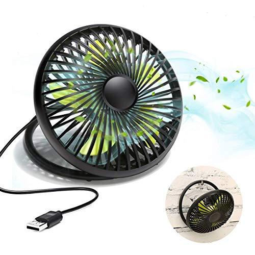 MECO ELEVERDE Mini USB Ventilatore da Tavolo Portatile Mini Ventola USB Fan da 6' 2 Velocità...