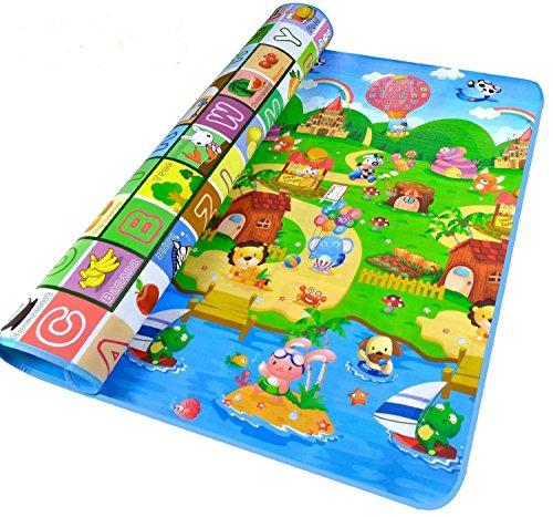 StillCool Tappeto Gioco Ripiegabile per bambini e neonati 200x180x0.5cm, Giocattolo educativo con...