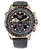 Aviator Watch for Men Aviation Sport Quartz Flight Aviators Leather Strap Rose Gold Case Waterproof 10 ATM Pilot Chronograph Wristwatch