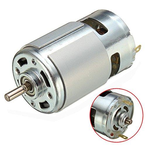 Descrizione:  775 motore DC 12V-36V 3500-9000rpm motore grande coppia motore ad alta potenzaCaratteristica:  Cuscinetto a sfera, con ventola di raffreddamento. Questo è il front-end del cuscinetto a sfera del motore, set di rame di back-end, ...
