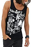trueprodigy Casual Homme Tee Shirt Motif imprimé, Vetements Swag Marque col Rond (sans Manche & Slim fit Classic), Tank Top Muscle Mode Fashion Couleur: Noir 1282107-2999-XL