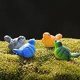 4pcs Mini Mini Las aves paisaje de cuento decoración de jardín Bonsai miniaturas terrario Figurines Gnomos Arte resina de la artesanía azotea de la casa