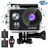 LS-SKY Camera Sport 4k Action Caméra Wi-FI 16MP Caméra étanche Full HD...
