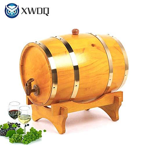 XWDQ Botte di Vino Legno Botti di Rovere in Legno per Birra Whisky Rum Bucket Brewage Hotel...