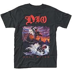 Dio Ronnie James Dio Holy Diver Rock oficial Camiseta para hombre (XX-Large)