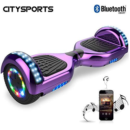CITYSPORTS Hoverboard 6.5 Pollici, Scooter Elettrico dell'equilibrio di Auto, Ruote Leggere del LED,...