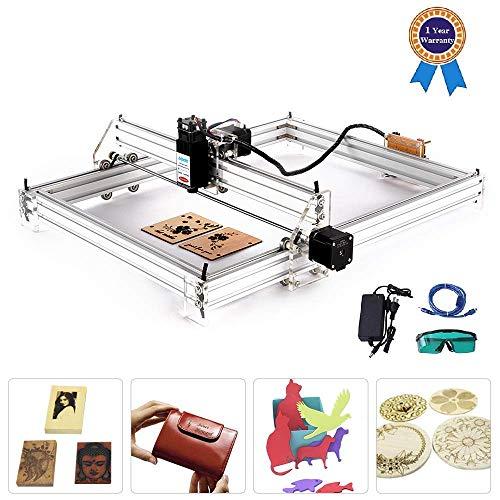 TOPQSC DIY CNC Laserengraver Kits 12V USB Desktop Laser Graviermaschine,Gravurfläche 400X500 mm,einstellbare Laser Power Drucker Carving & Schneiden Holz Kunststoff Hörner Brieftasche(2500mw)