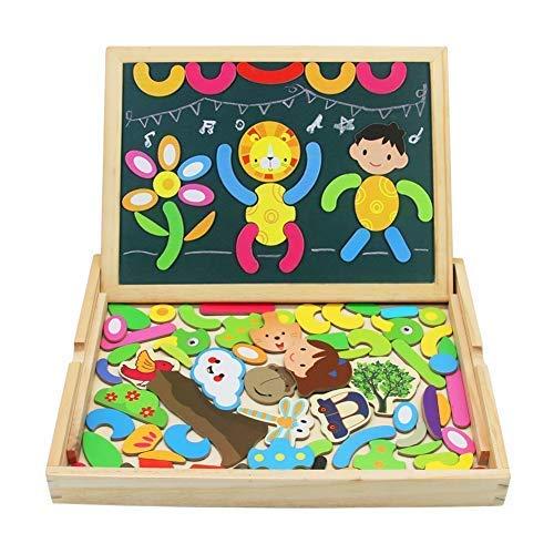 Puzzle Magnetico Legno Lavagna Magnetica per Bambini Giocattolo di Legno Magnetico Lavagna Double...