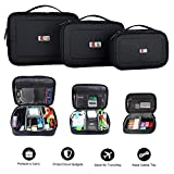 3 x BUBM MULTIPLE FUNCTION ACCESSORIES STORAGE CARRY BAG CASE USB cable memory card power cord battery storage mobile disk bag case
