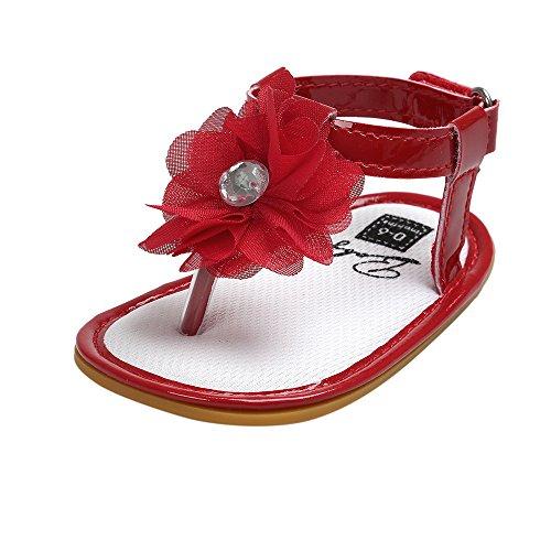 Ginli scarpe bambino,Scarpe Primi Passi Scarpine Neonato Sandali Bambino Baby Flower Sandali di Perle Toddler Princess First Walkers Scarpe da Bambina per Bambina