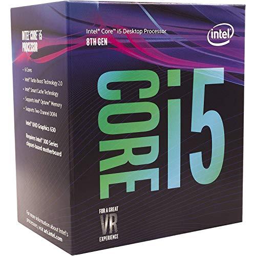 Intel Core i5-8400 - Procesador 8ª generación de procesadores Intel Core i5, Caché de 9M, hasta 4.00 GHz, 2,8 GHz, Socket FCLGA1151, PC, 14 NM