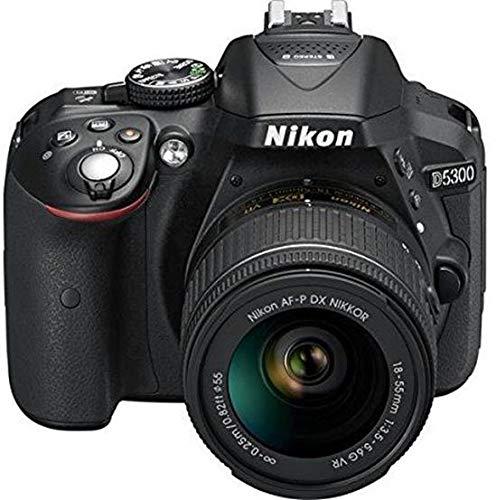 Nikon D5300 24.2MP Digital SLR Camera (Black) with AF-P 18-55mm f/ 3.5-5.6g VR Kit Lens, 16GB Card and Camera Bag
