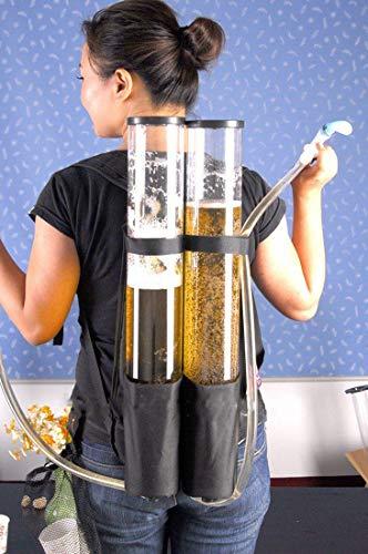 Original Cup Distributeur Girafe à Bière Qualité Premium - Version Jet Pack - 2 x 3L de Boissons - 2 Tireuses à Bière de Bar
