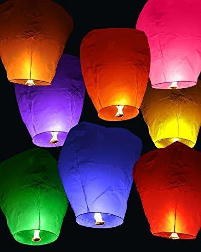MY PARTY SHOP Sky Lanterns(Pack of 5)