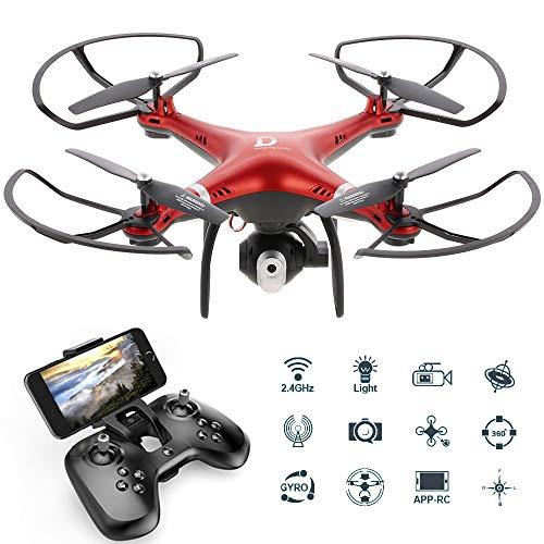 Goolsky Dongmingtuo X8 Drone Wifi FPV 2.4G Droni telecamera 720P RC Quadcopter Altitude Hold APP...