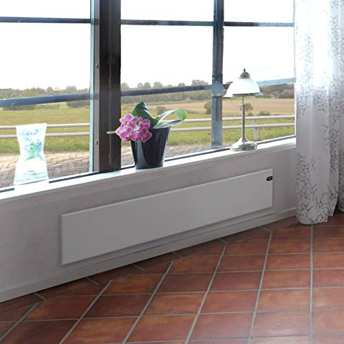 Designed as a flat panel, the Adax NEO Modern Electric Skirting Panel Heater is a wall-mounted model, therefore, takes up less space. It has a low profile and therefore, it makes the perfect addition in conservatories and under windows where there is usually limited space in conservatories.