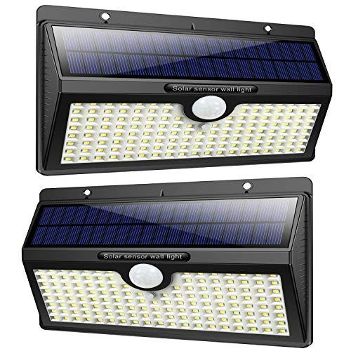 Luce Solare Led Esterno, Feob【2500 mAh】138 LED Lampada Solare con Sensore di Movimento Luci...