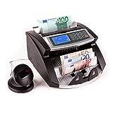 oneConcept Buffett contador de billetes (Con 3 tipos de reconocimiento: UV, magnético e infrarrojo,...