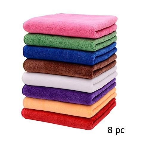 ALTINOVO Panno di Pulizia in Microfibra 8 pz, Asciugamani di Pulizia Asciugatura Premium per la...