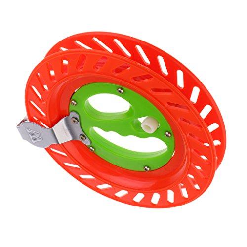 Mulinello Aquilone Maniglia Avvolgitore Bobina Avvolgitore Ruota Aquilone - Rosso Verde