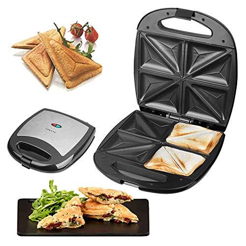 Dispositivo per toast con rivestimento antiaderente per panini, cottura, potenza elevatissima, 1200...