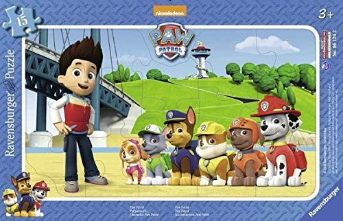 Ravensburger 06124, Puzzle a Cornice a Tema Paw Patrol in 15 Pezzi