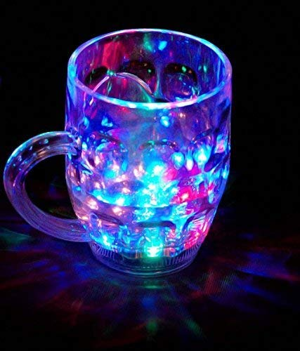 Spanking Rainbow Magic Color Cup with LED Light Party Mug,1 Unit, Capacity 250 ml