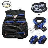 Taktische Weste Jacke Kits für Nerf N-Strike mit 1 pcs maske + 1 pcs Schultergurt + 2 pcs Hand armband