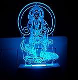 AEON METAL STICKER 3D Multi Colour Plastic Night Lamp Murugan Lord Kartikeya Code 2033 Bhagwan Gift