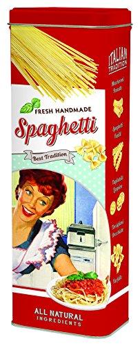 R2S Vorratsdose für Spaghetti aus Blech, 10cm x 7cm x 29cm