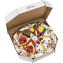 Rainbow Socks - Pizza MIX Vegetariana Capricciosa Pepperoni Donna Uomo - 4 paia di Calze - Taglia EU 41-46