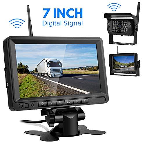 Digital Signal Kit Telecamera Senza Fili con Sistema di Parcheggio, Telecamera per Camper,Monitor LCD 7 Pollici