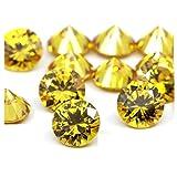 Brightjewels giallo dorato colore zirconi AAA qualità 9mm taglio diamante rotondo forma 100pcs gemma sciolto