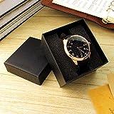 Maistore Fashion Luxury design durevole presente regalo di orologio bella scatola di gioielli custodia organizer Black