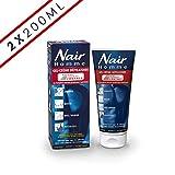 Nair - Gel-Crème Dépilatoire Homme - Tube 200 ml + Spatule - Lot de 2