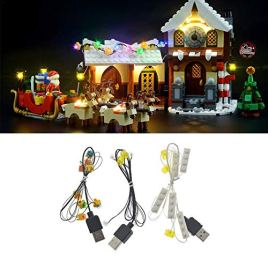 Kit d'éclairage LED, DIY parties lumineuses de blocs de construction, jeu d'éclairage LED, pour LEGO 10245 Noël blocs LED Street View Lighting City (modèle non inclus)