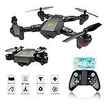 Drohne Faltbarer, EarthSave XS809W WiFi FPV Quadrocopter mit Kamera Live übertragung 2MP 120 ° Wide-Angle mit Langer Flugzeit,One Key Return,Höhe Hold,6-Achsen Stabilization System für Kinder und Anfänger