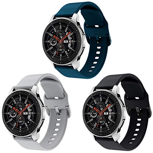 Yayuu 22mm Cinturino Samsung Galaxy Watch 46mm Braccialetto Gear S3 Frontier/Classic Silicone Polso Band Strap per Moto 360 2nd Gen 46mm/Huawei Watch GT/GT 2 46mm/Ticwatch PRO