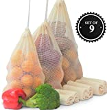 Reusable Mesh Produce Bags | Organic Cotton | Mesh Grocery Bags| Fruit and Veg Storage | Compostable & Biodegradable | Eco Friendly | Plastic Free | Sustainable | Zero Waste | Recycled Packaging (9)